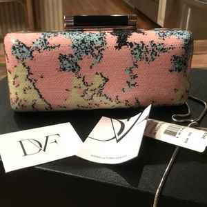 9a570f3eb0 Diane Von Furstenberg Bags - NWT DVF Islands of the Sea sequined chained  clutch